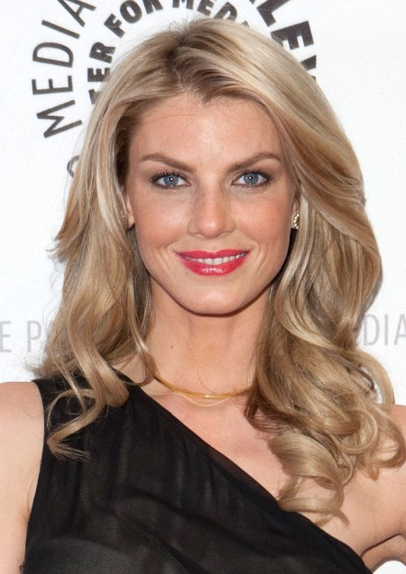 Long Blond Hair with Loose Spiral Curls