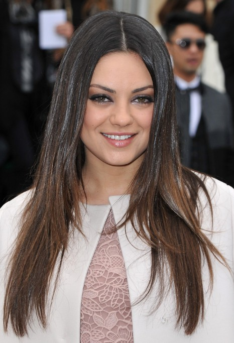 Mila Kunis Long Choppy Layered Hairstyles