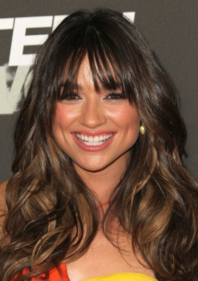 Crystal Reed Long Hairstyle for Thick Hair