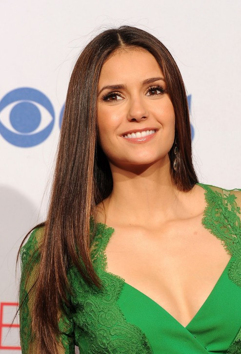 Nina Dobrev Long Sleek Hairstyles 2013  Hairstyles Weekly