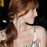 Lovely Loose Braided Hairstyle with Curls & Bangs