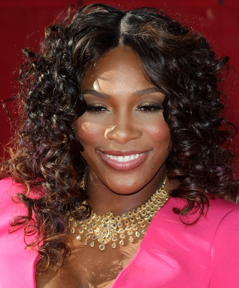 Medium Curly hairstyle for black women
