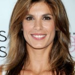 Elisabetta Canalis Medium Wavy Hairstyle with Highlights
