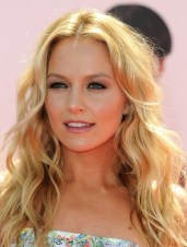 Middle Parted Long Blonde Hairstyle with Loose Waves