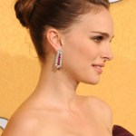 Natalie Portman Bun Updos Hairstyles for Short Hair