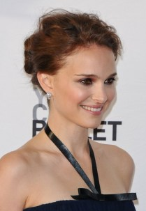 Prom Hairstyles 2013: Natalie Portman Casual Updo for Prom