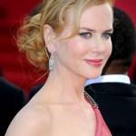 Nicole Kidman Low Loose Bun Updo 2013