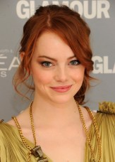 Pretty Red Loose Ponytail Hairstyle with Side Bangs
