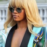 Rihanna Long Straight Blonde Hairstyle