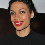 Rosario Dawson Braided Black Updo for Black Women