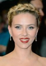 Scarlett Johansson Braided Updo for Prom
