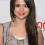 Selena Gomez Long Sleek Hairstyle With Layers