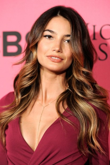 Sexy Long Ombre Hair from Lily Aldridge