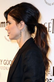 side view of casual ponytail