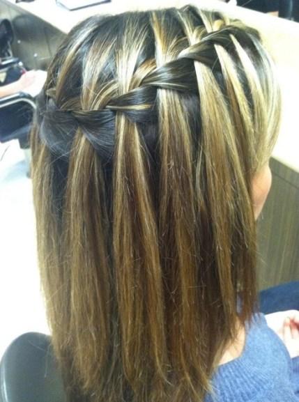Waterfall Braid - Hairstyles Weekly