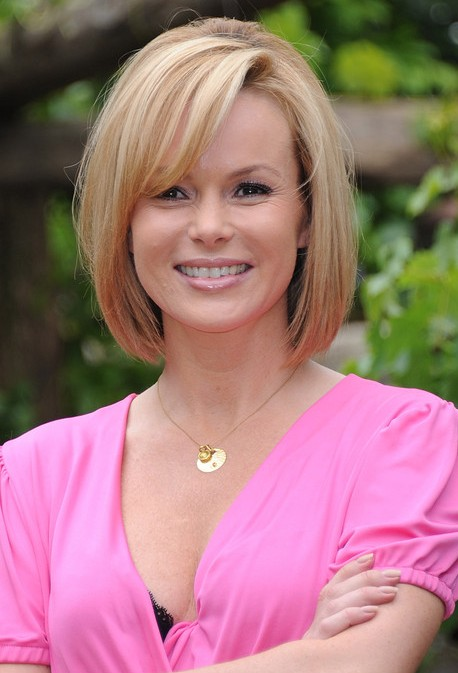 Amanda Holden Bob Hairstyle with Bangs