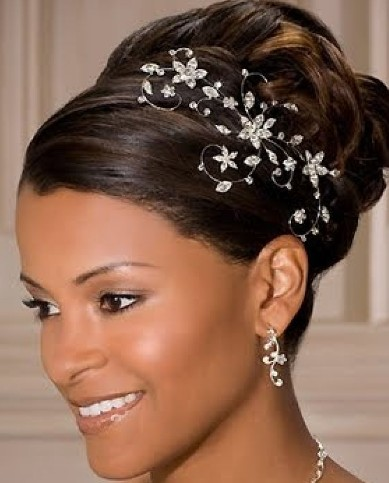 2013 Beautiful African American Wedding Updo Hairstyles