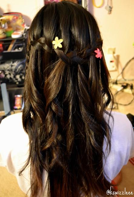 Cute Cascade Hairstyles for Girls