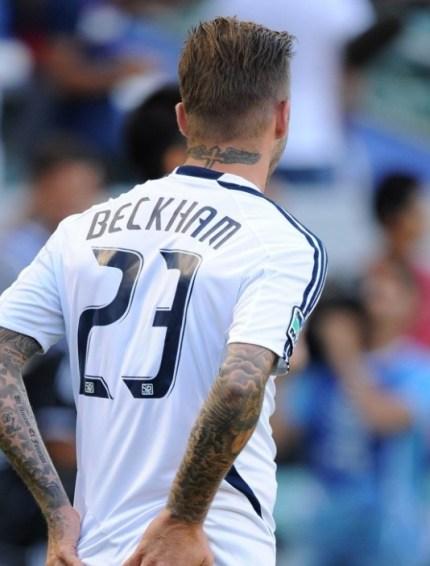David Beckham Hairstyle 2012 Back View