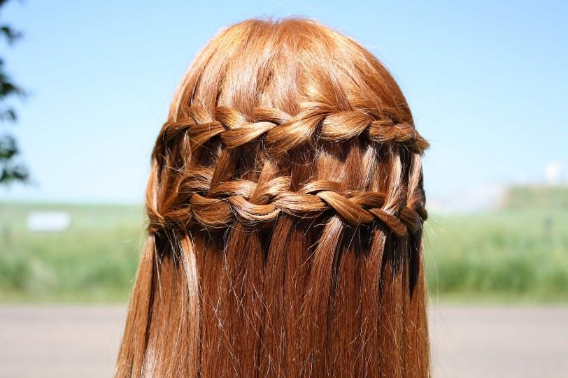 Double Waterfall Braid Hair Styles - Elegant Cascade Braid for Women