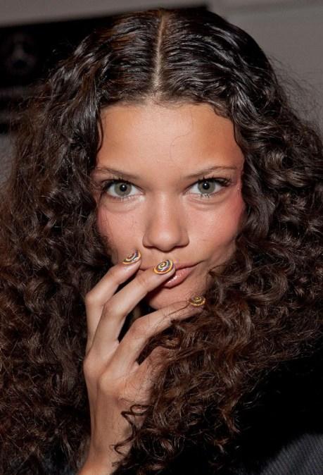 Long Dark Brown Curly Hairstyles 2013