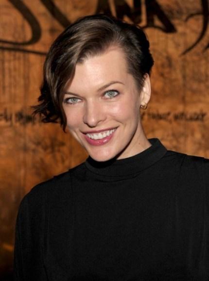 Milla Jovovich Short Wavy Hairstyles for Women