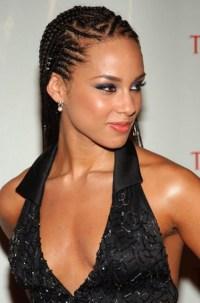 Alicia Keys Cornrow Braided Hairstyle - Hairstyles Weekly