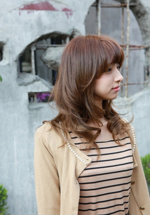 Asian cute girl with medium hair