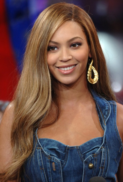 Beyonce Knowles Long Straight Hairstyles