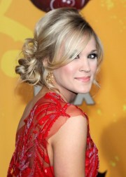 carrie underwood loose bun updo