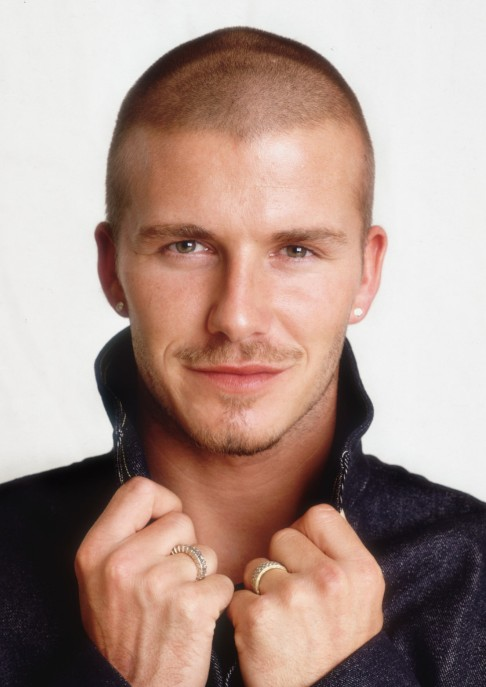 David Beckham Butch Cut Almost Bald But Looks Great