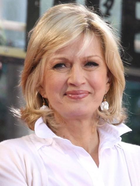 Mature Hairstyles: Diane Sawyer's Layered Bob Haircut