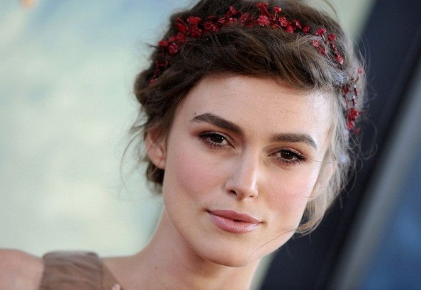 Homecoming Hairstyles for Women: Keira Knightley Braided Updo