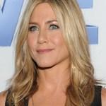 Jennifer Aniston Layered Long Center Part Hairstyle
