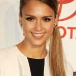 Jessica Alba Braided Sleek Ponytail