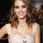 Jessica Alba Medium Curly Hairstyles