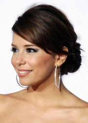 updo hairstyle with side swept