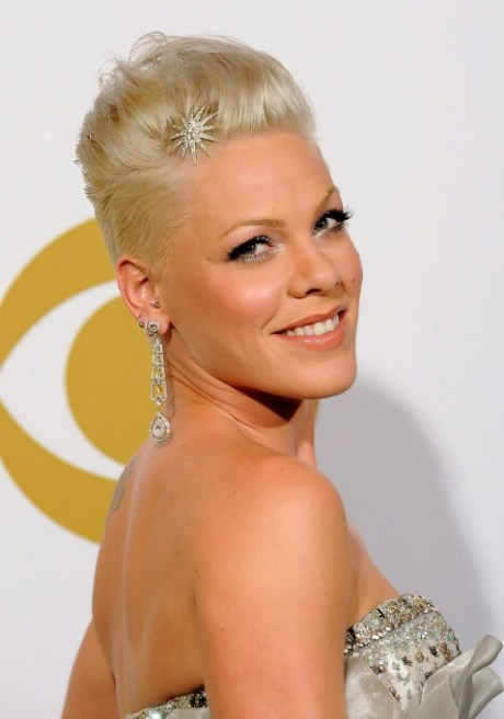 Pink Fauxhawk Hairstyle for Women