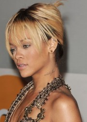 rihanna updo hairstyle french