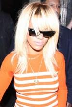 Rihanna Long Sleek Hairstyle: Blonde Ombre Hair