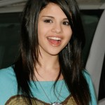 Selena Gomez Straight Hairstyles with Bangs