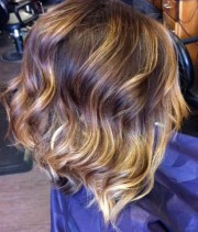 sexy medium layered ombre bob hairstyle
