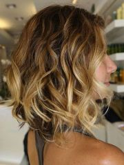 side view of sexy ombre bob hairstyle