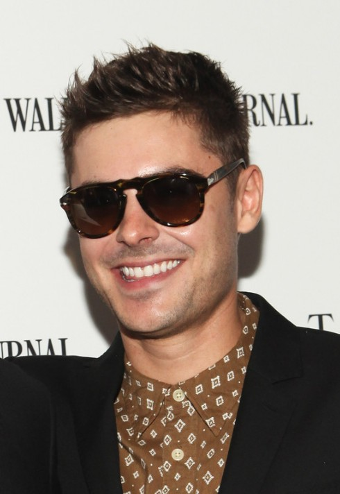 Zac Efron Short Haircuts Cool Spiked Short Hairstyle For