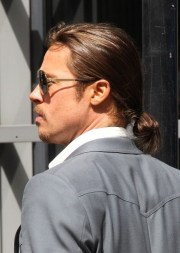 brad pitt haircut stylish casual