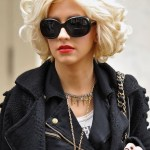 Christina Aguilera Short Curly Bob Hairstyle