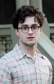 daniel radcliffe messy curly hairstyle