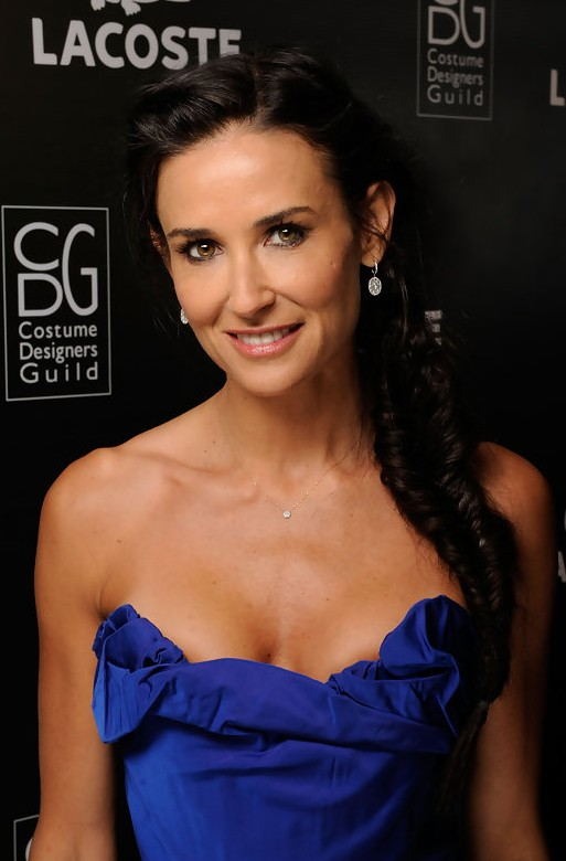 Demi Moore Side French Fishtail Braid Hairstyle for Long Hair  Hairstyles Weekly