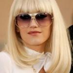 Gwen Stefani Long Bob Hairstyle with Bangs