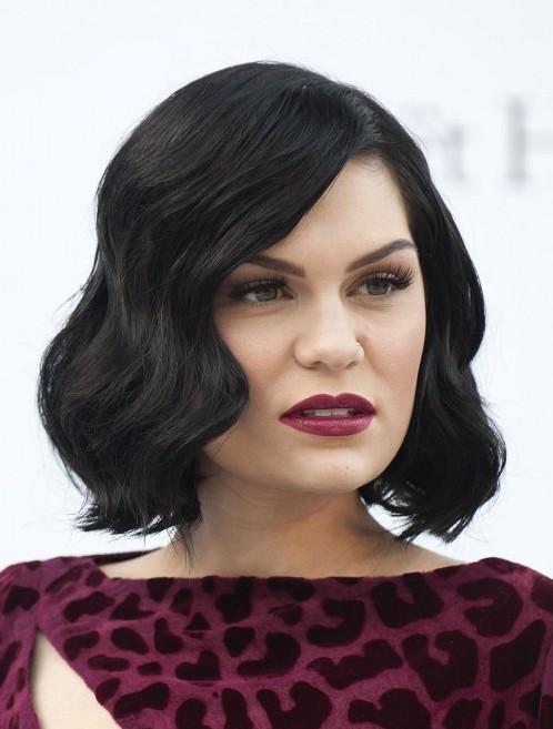 Jessie J Black Curly Bob Hairstyle